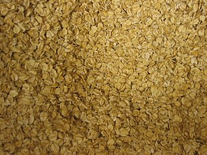 Porridge - Porridge oats before cooking
