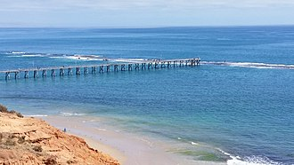 Port Noarlunga Reef Aquatic Reserve - Port Noarlunga Jetty and the submerged Port Noarlunga Reef