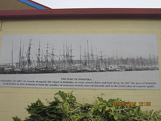 Hokitika - Port of Hokitika in 1867