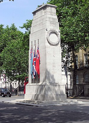 Portland stone -  The Cenotaph, in Whitehall, London, is made from Portland stone.