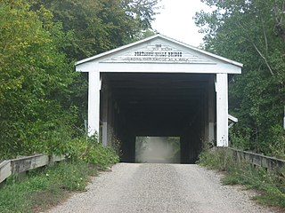 Portland Mills Covered Bridge place in Indiana listed on National Register of Historic Places