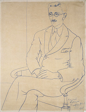 Gerald Reitlinger - Portrait of Gerald Reitlinger by Christopher Wood, 1926, Ashmolean Museum