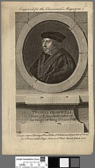 Thomas Cromwell Earl of Efsex beheaded in the reign of King Henry VIII