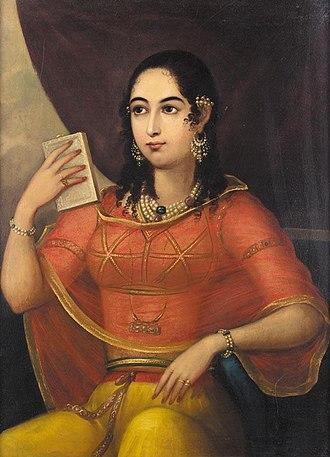 Bibi (title) - Portrait of a Bibi, Lucknow (Oudh State) 1785