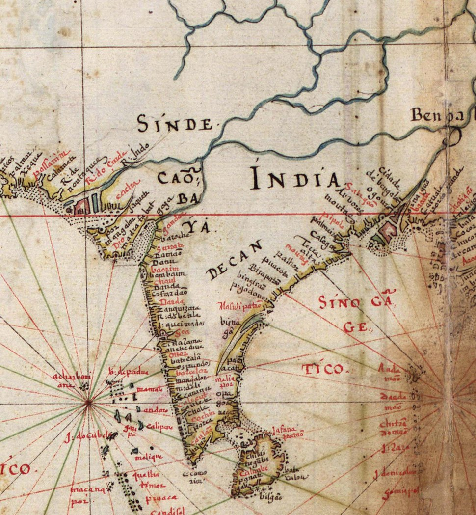 Portugues map of India, 1630