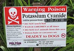 Possum cyanide warning
