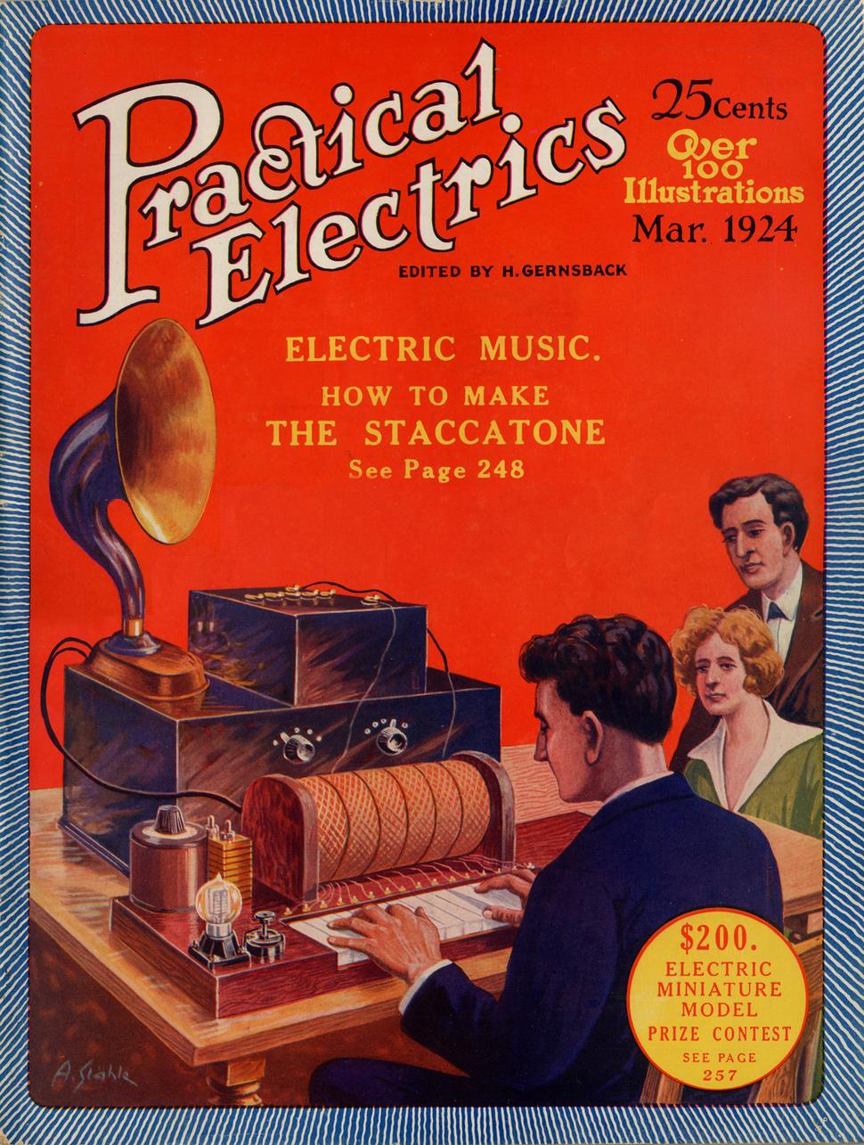 Practical Electrics Mar 1924 Cover