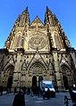 Prag - Veits-Kathedrale auf dem Hradschin - von Westen - Katedrála svatého Víta, Václava Vojtěcha - od západu - panoramio (1).jpg