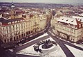 Prague 1991, Old Town Square from the Town Hall Tower.jpg