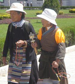 Tibetan women near the Potala