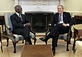 President George W. Bush meets with Secretary-General of the United Nations, Kofi Annan.jpg