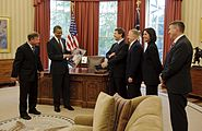 President Obama Meets With STS-133 Crew