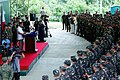 President Rodrigo Duterte delivers a message during his visit at the 10th Infantry Division 02.jpg
