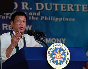 Presidency of Rodrigo Duterte - Duterte delivers his speech during the turnover rites of the Armed Forces of the Philippines at Camp Aguinaldo