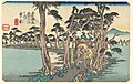 Print, Yoshiwara. Hidari Fuji (Yoshiwara with Mount Fuji), from Tokaido Gojusan Tsugi-na Uchi (Fifty-Three Stations on the Tokaido), 1834 (CH 18387707-2).jpg