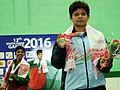 Priyanka singh (India) won the gold medal in 48kg female wrestling, at 12th South Asian Games-2016, in Dispur, Guwahati on February 06, 2016.jpg