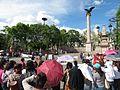 Protesta en favor de los profesores de Oaxaca, en la plaza principal de Aguascalientes (junio, 2016) 15.jpg