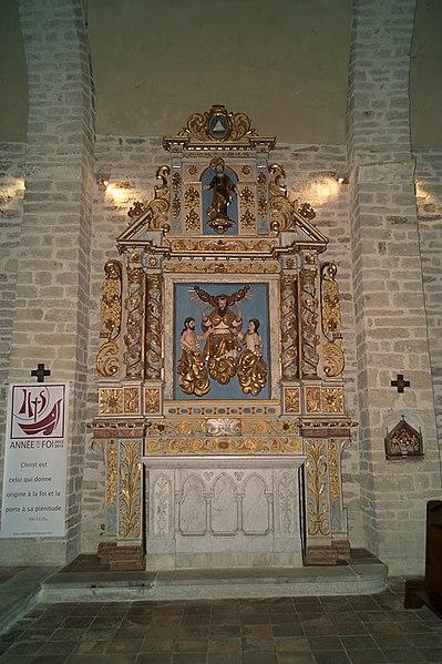 Retable, Chapelle de la Trinité, Prunet-et-Belpuig (Pyrénées-Orientales, Languedoc-Roussillon, France)