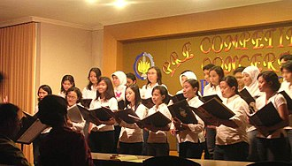 Sepuluh Nopember Institute of Technology - ITS student choir in a contest