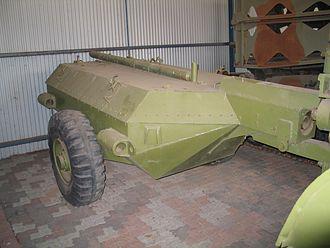 Churchill Crocodile - The armoured fuel trailer for the Churchill Crocodile, Royal Australian Armoured Corps Museum (2007)