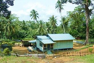 Pulau Ubin - A traditional kampong house on Pulau Ubin.