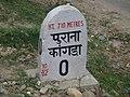 Purana Kangra milestone.JPG