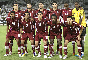 Qatar national football team - Qatar national team in 2011 during the 2014 FIFA World Cup qualifying rounds.