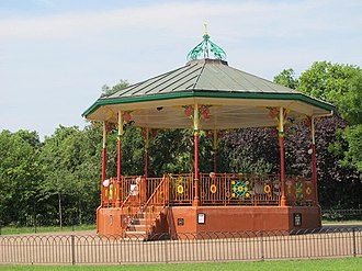 Queen's Park, London - The bandstand in Queen's Park