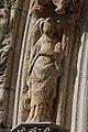 Quimper - Cathédrale Saint-Corentin - Statue des Voussures du portail - PA00090326 - 0016.jpg