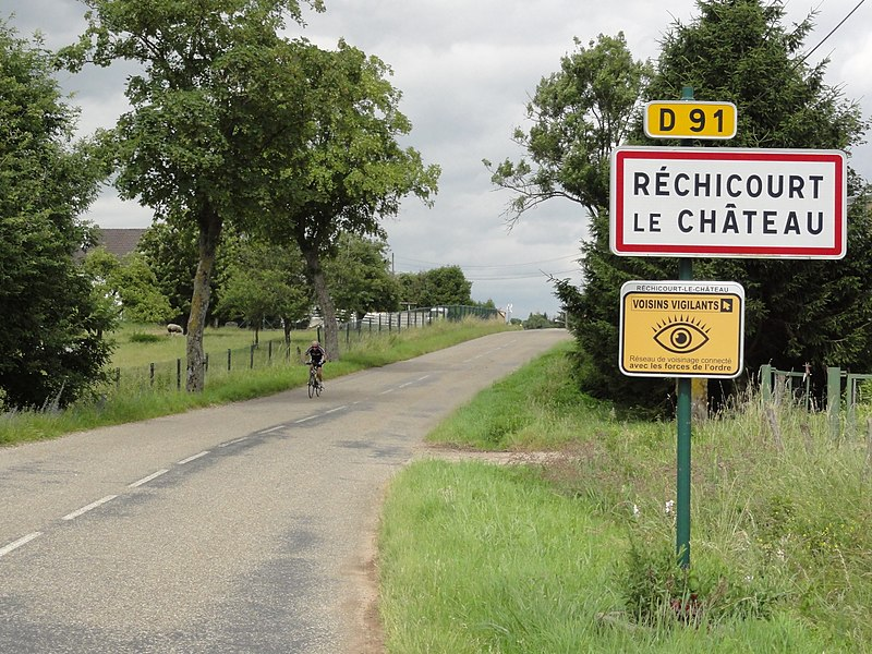 Réchicourt-le-Château (Moselle) city limit sign