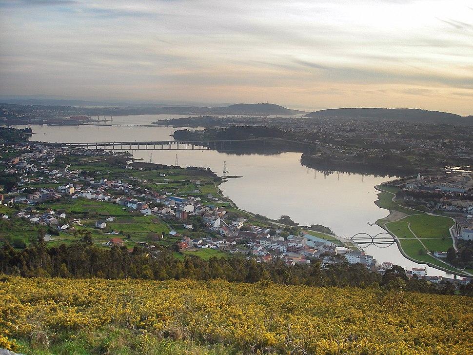 Ría de Ferrol desde o Coto de Ancos.retocada