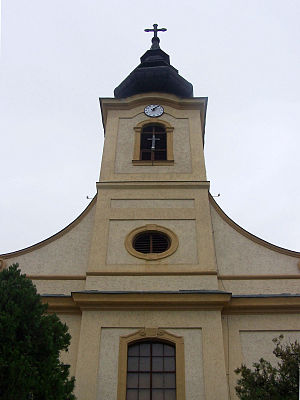 Csömör - Front facade of the Holy Trinity church in Csömör
