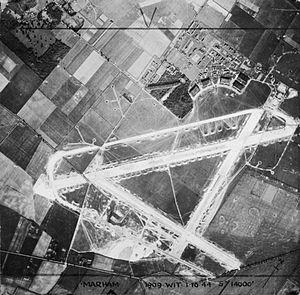 RAF Marham - The new concrete runways viewed in 1944