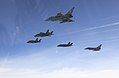 RAF and US Marine F-35B escorted by RAF Typhoon MOD 45162895.jpg