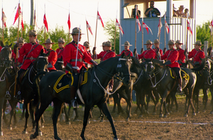 Roblin, Manitoba - RCMP Musical Ride Parade in Roblin