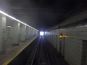 Grant Avenue (IND Fulton Street Line) - Railfan view from Grant Avenue station