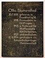 RWTH Aachen, Hauptgebäude, Gedenktafel an Otto Blumenthal.jpg
