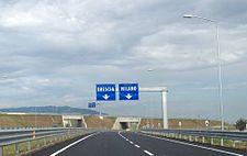 La fine del raccordo con la A35 Brebemi verso la tangenziale sud