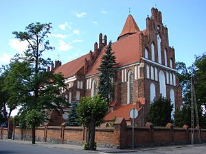 Radzyń Chełmiński - Parish church of St. Ann. Construction started about 1310 and finished about 1340.
