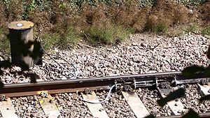 Cant (road/rail) - Track lubrication on a reverse curve in an area prone to movement due to wet beds