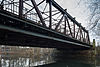 Railroad bridge freight train bypass Leine river Suedstadt Doehren Hannover Germany 01.jpg