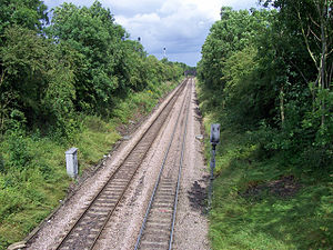 North Killingholme - Rail lines for Immingham and refineries passing through the parish (2009)