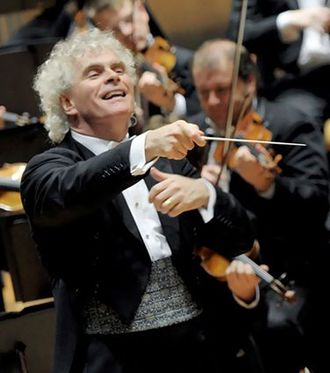 Simon Rattle - Simon Rattle conducting the Berlin Philharmonic Orchestra in 2006