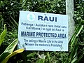 Raui (marine protected area) sign, Rarotonga Island, Cook Islands.jpg