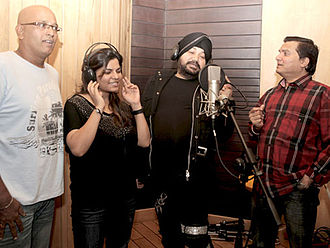Daler Mehndi - Song recording for the 2012 Bollywood film Chaalis Chauraasi.