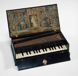 Virginals - Rectangular Octave Virginal, ca. 1600, Metropolitan Museum of Art.