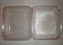 Rectangular plastic food containers