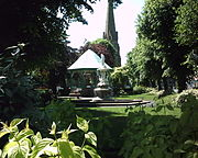 Church Green and St. Stephen's Church in central Redditch