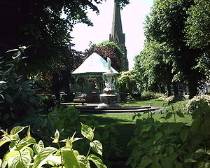 Church Green and St. Stephen's Church in centr...