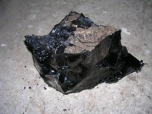 English: Cold refined bitumen